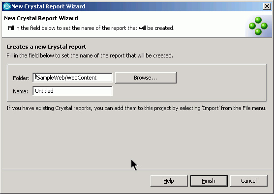 Рисунок 7. Мастер отчетов New Crystal Report