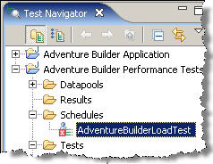 Рисунок 17. План AdventureBuilderLoadTest в виде Test Navigator