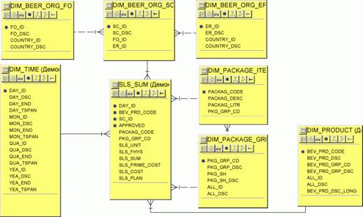 Модель данных (Oracle
